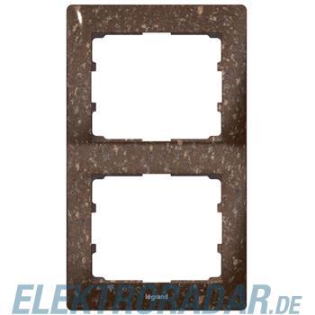 Legrand 771706 Rahmen 2-fach senkrecht Galea Corian® Cocoa Brown