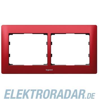 Legrand 771902 Rahmen 2-fach waagerecht Galea magic red