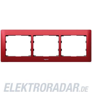 Legrand 771903 Rahmen 3-fach waagerecht Galea magic red