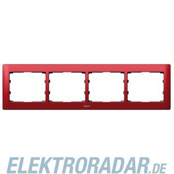 Legrand 771904 Rahmen 4-fach waagerecht Galea magic red