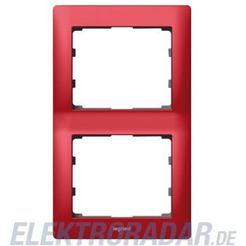 Legrand 771906 Rahmen 2-fach senkrecht Galea magic red