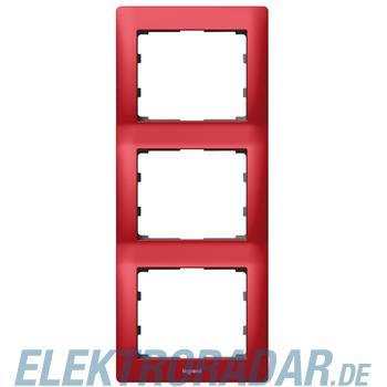 Legrand 771907 Rahmen 3-fach senkrecht Galea magic red