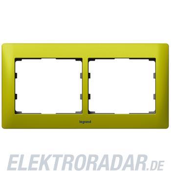 Legrand 771922 Rahmen 2-fach waagerecht Galea magic green