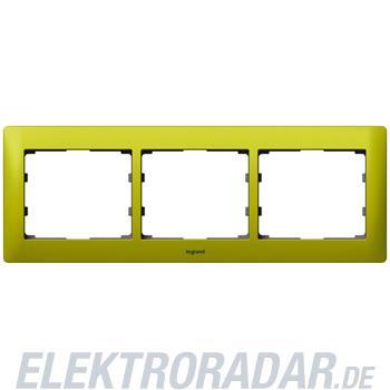 Legrand 771923 Rahmen 3-fach waagerecht Galea magic green