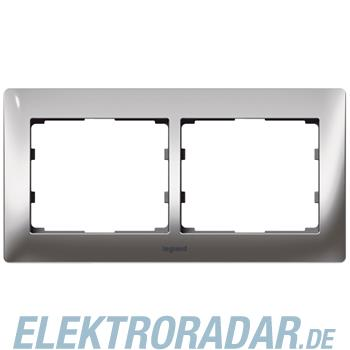 Legrand 771932 Rahmen 2-fach waagerecht Galea silver chrome