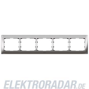 Legrand 771935 Rahmen 5-fach waagerecht Galea silver chrome