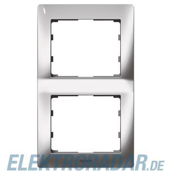 Legrand 771936 Rahmen 2-fach senkrecht Galea silver chrome