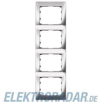 Legrand 771938 Rahmen 4-fach senkrecht Galea silver chrome