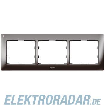 Legrand 771943 Rahmen 3-fach waagerecht Galea black chrome