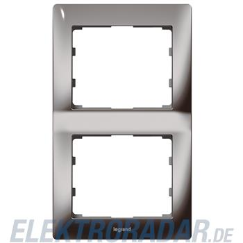 Legrand 771946 Rahmen 2-fach senkrecht Galea black chrome
