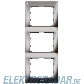 Legrand 771947 Rahmen 3-fach senkrecht Galea black chrome