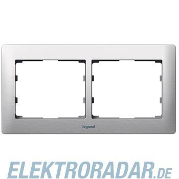 Legrand 771952 Rahmen 2-fach waagerecht Galea brushed aluminium