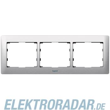 Legrand 771953 Rahmen 3-fach waagerecht Galea brushed aluminium