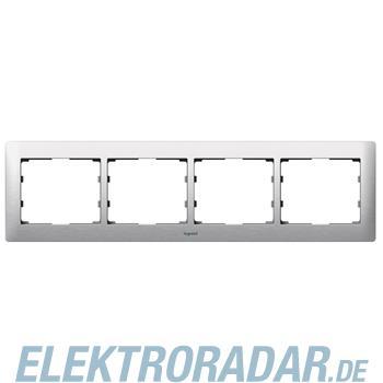 Legrand 771954 Rahmen 4-fach waagerecht Galea brushed aluminium
