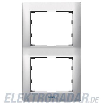 Legrand 771956 Rahmen 2-fach senkrecht Galea brushed aluminium