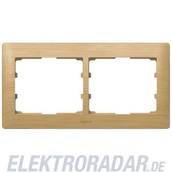 Legrand 771962 Rahmen 2-fach waagerecht Galea ahorn