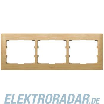 Legrand 771963 Rahmen 3-fach waagerecht Galea ahorn