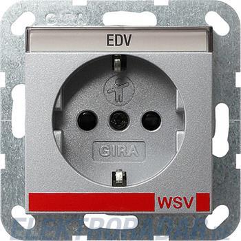 Gira Schuko-Steckdose WSV alu 042126