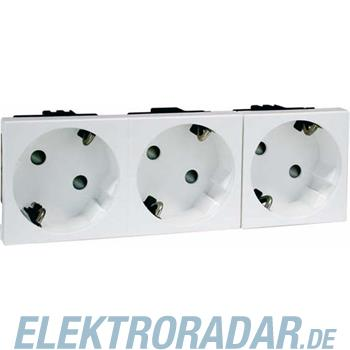 Peha SCHUKO-Steckdose 3-fach ws D 6213.02 EMS SI WI