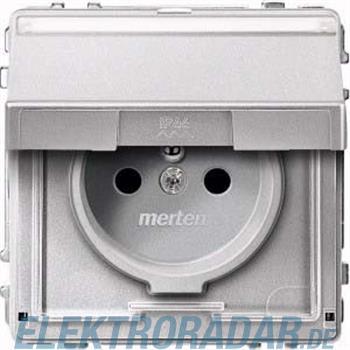Merten Steckdose alu MEG2612-7260
