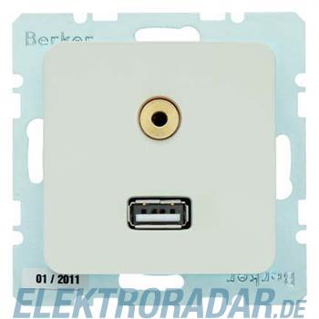 Berker Steckdose USB/3,5mm Audio 33153902