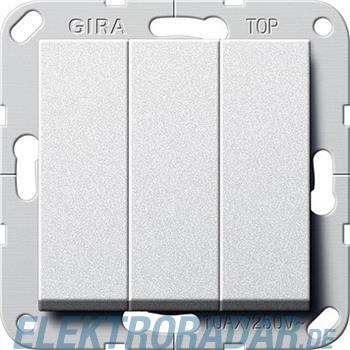 Gira Taster 3-fach alu 284426