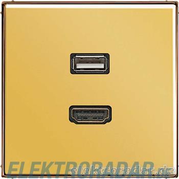 Jung Multimedia-Anschluss gold MA GO 1163