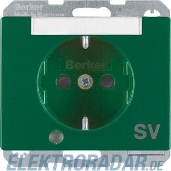 Berker SCHUKO-Steckdose gn/gl 41100073