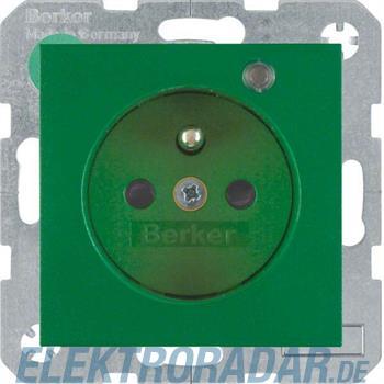 Berker Steckdose Glas gn matt 6765091913