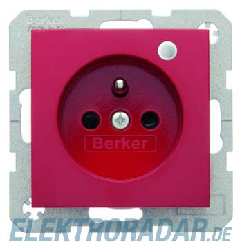 Berker Steckdose rt/gl 6765098915