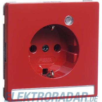 Peha Steckdose SCHUKO rubinrot D 95.6511.36 LED/4 NA