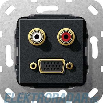 Gira VGA Cinch Audio sw matt 565610