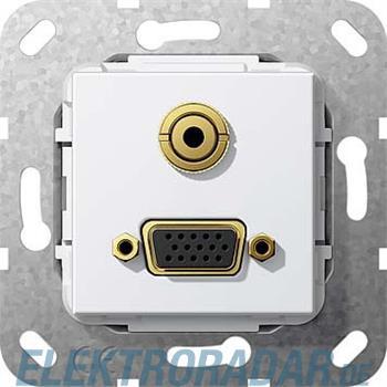 Gira UP Tragring VGA und KLinke 565903
