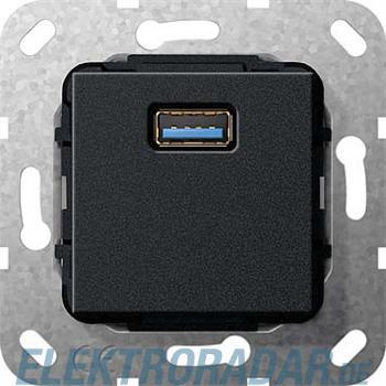 Gira UP Tragring USB A sw matt 568310