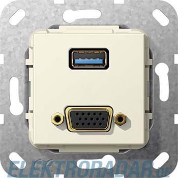 Gira UP Tragring USB A und VGA 568801