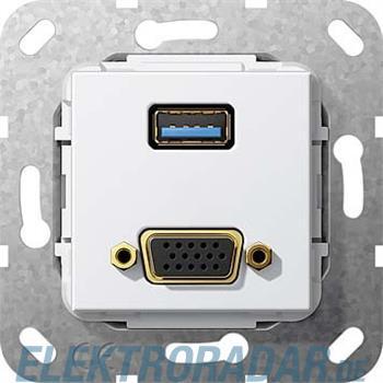 Gira UP Tragring USB A und VGA 568803