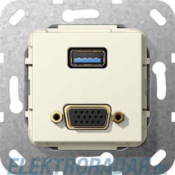 Gira UP Tragring USB A und VGA 568901
