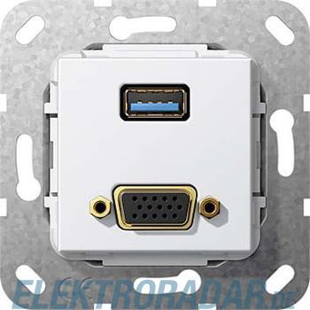 Gira UP Tragring USB A und VGA 568903