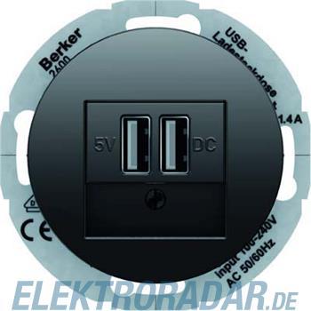 Berker USB Ladesteckdose sw/gl 26002045