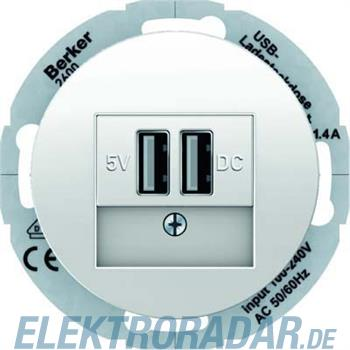 Berker USB Ladesteckdose pows/gl 26002089