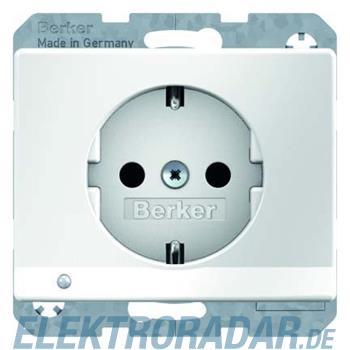 Berker SCHUKO-Steckdose pows/gl 41090069