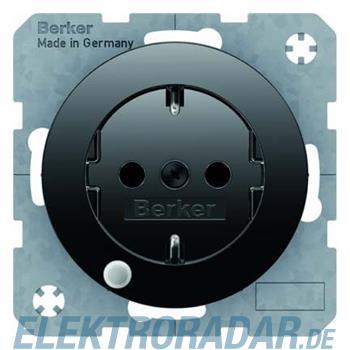 Berker SCHUKO-Steckdose sw/gl 41102045