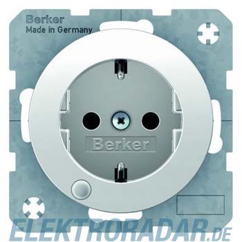 Berker SCHUKO-Steckdose pows/gl 41102089