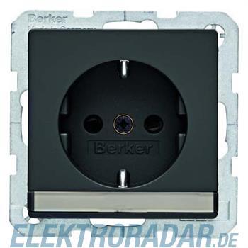 Berker SCHUKO-Steckdose anth/sa 41496086