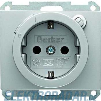 Berker SCHUKO-Steckdose alu 47087003
