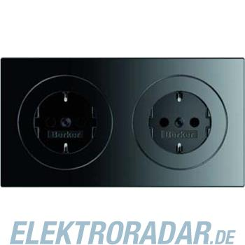 Berker Steckdosen-Kombi sw/gl 47202045