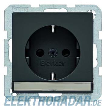 Berker SCHUKO-Steckdose anth/sa 47496086