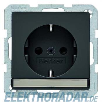Berker SCHUKO-Steckdose anth/sa 47506086