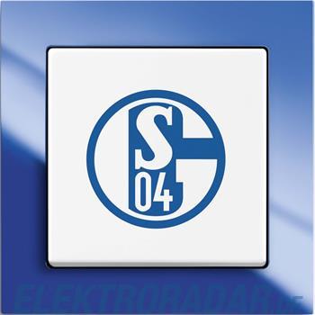 Busch-Jaeger Wechselschalter 2000/6 UJ/02 FC Schalke 04 Fanschalter