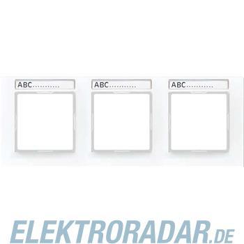 Jung Rahmen 3-f Schriftf.waager AC 5830 BF NA WW